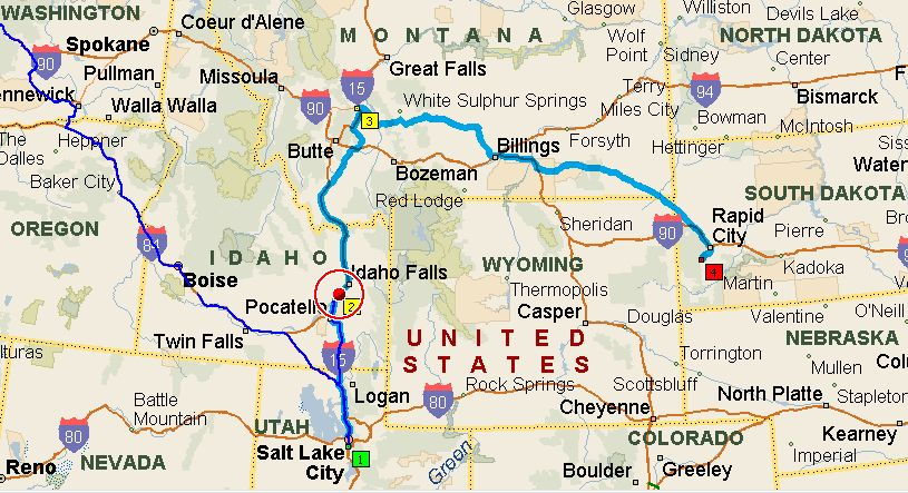 Idaho And Montana Map MAP - Montana road map with cities