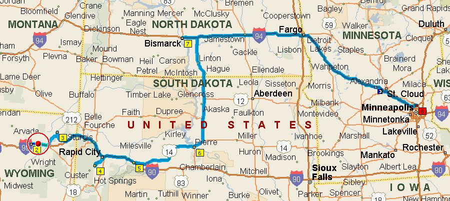 south dakota and wyoming map Today S Plan A Lot Of Stops Timbotrip Com south dakota and wyoming map