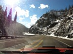 Going up Wolf Creek Pass